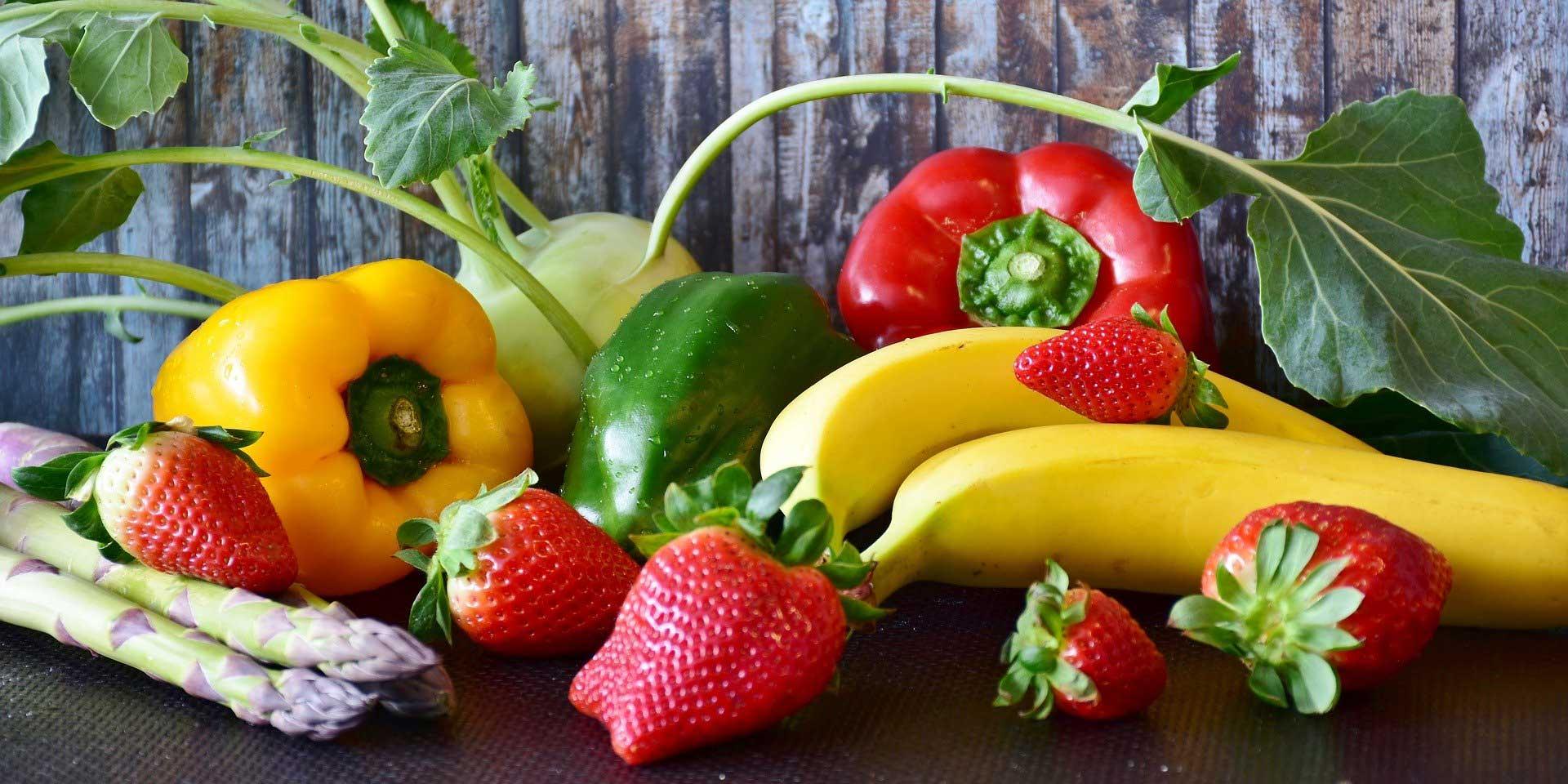 Obst und Gemüse sind Teil einer gesunden Ernährung