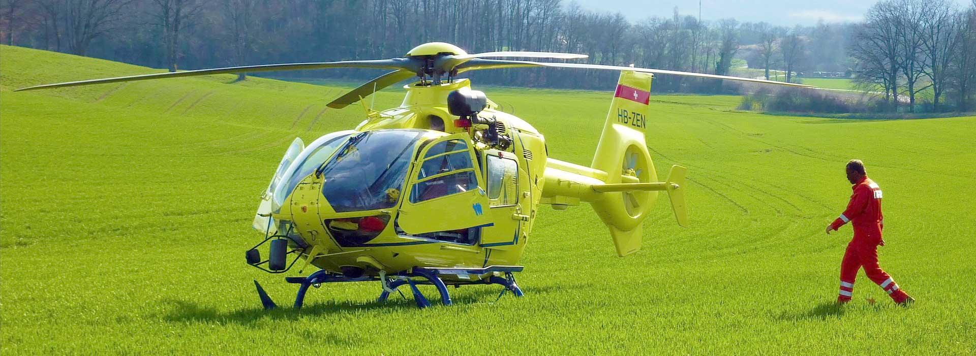 Verlegung per Hubschrauber